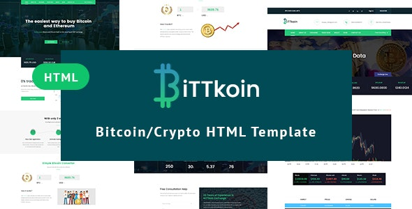 BittKoin - Crypto Currency HTML Template - Business Corporate