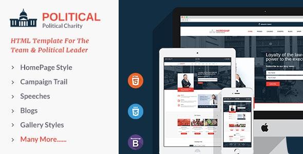 Political Responsive HTML5 Template - Political Nonprofit