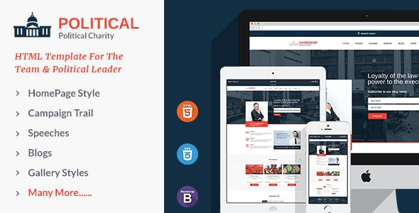 Political Responsive HTML5 Template