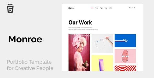 Monroe - Minimal Creative Portfolio - Portfolio Creative