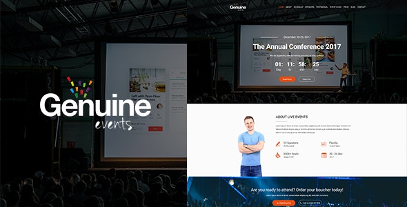Geinuine - Conference and Event PSD Landing Page - Events Entertainment