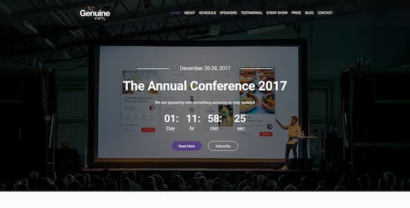 Geinuine - Conference and Event PSD Landing Page