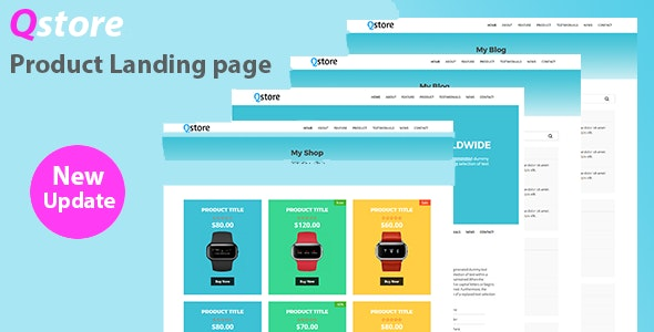Qstore – Product HTML Landing Page - Retail Site Templates