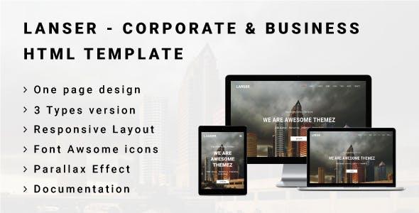 LANSER - Corporate & Business HTML Template