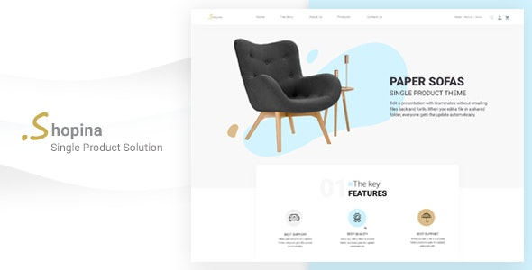 Shopina-Single Product eCommerce PSD Template - Shopping Retail