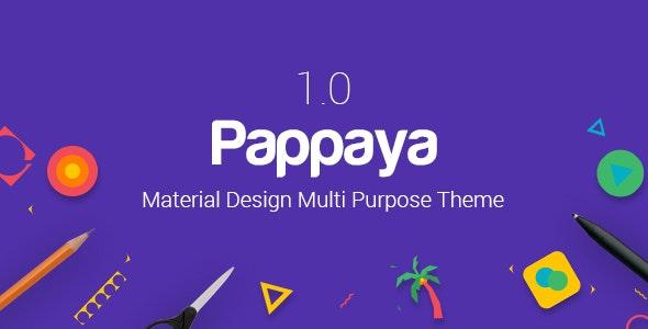 Pappaya   Material Design WordPress Theme - Corporate WordPress
