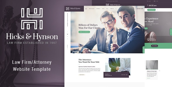 Hicks & Hynson - Law Firm HTML Template - Business Corporate