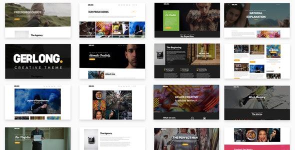 Gerlong - Responsive One & Multi Page Portfolio Theme - Portfolio Creative