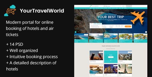 YTW — Online Travel Booking PSD Template