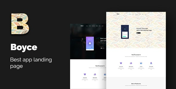 Boyce - Best App Landing Page Bootstrap 4 - Technology Site Templates