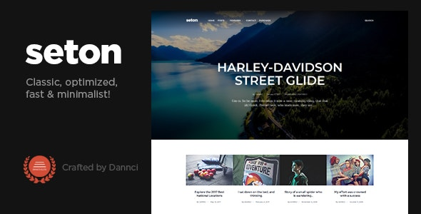 Seton - A Personal WordPress Blog Theme - Personal Blog / Magazine