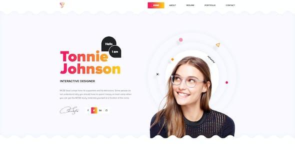 Topnotch - Creative Resume PSD Template