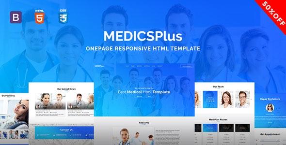 Medicsplus - Onepage Responsive Html Template - Health & Beauty Retail