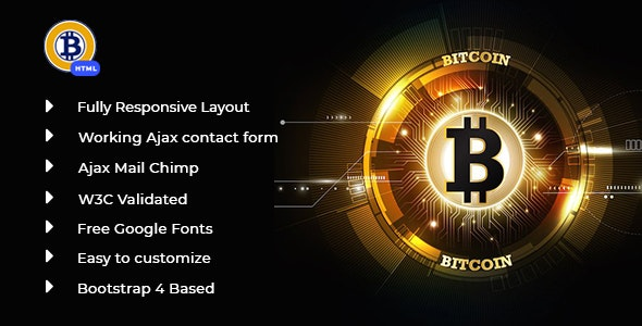 Richcoin - Bitcoin Crypto Currency Template - Technology Site Templates