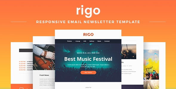 Rigo - Responsive Email Newsletter Template - Newsletters Email Templates