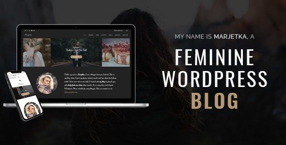 Marjetka - A Responsive Feminine WordPress Blog Theme