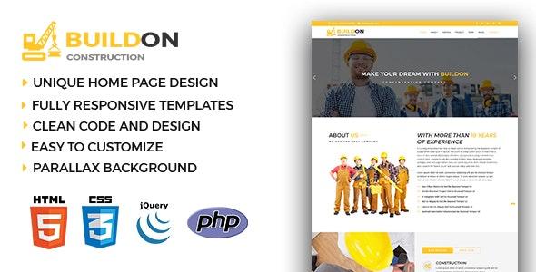 Buildon - Construction & Business HTML5 Template - Business Corporate