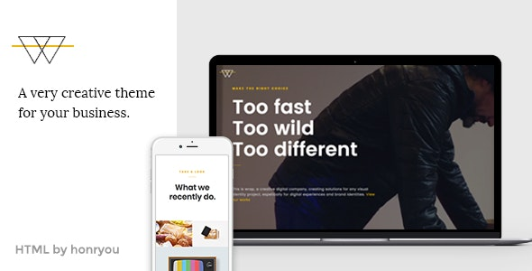 Wrap - Onepage HTML template - Business Corporate