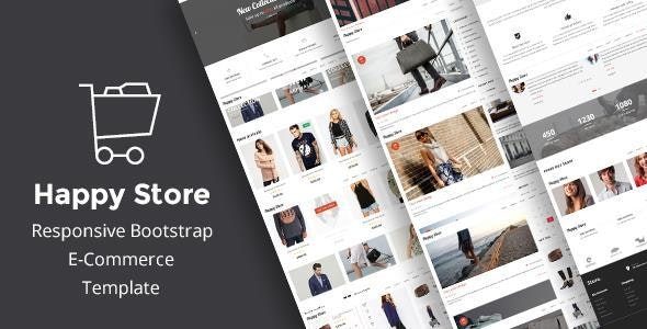HappyStore | Simple eCommerce HTML Template - Shopping Retail