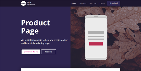 Bleux - App, Product and Technology Landing Page - Apps Technology