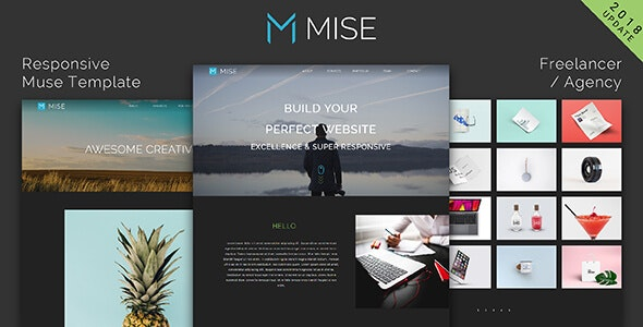 MISE_Responsive Muse Template for Freelancer / Agency - Creative Muse Templates