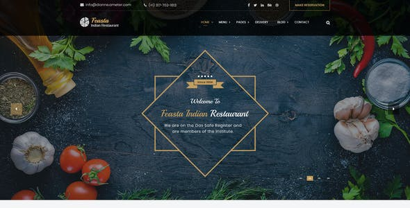 Feasta - Multi Cuisine Restaurant PSD Template