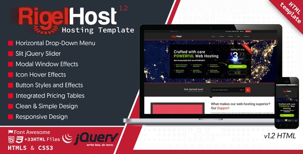 RigelHost - Responsive Hosting HTML5 Template by ScanThemes