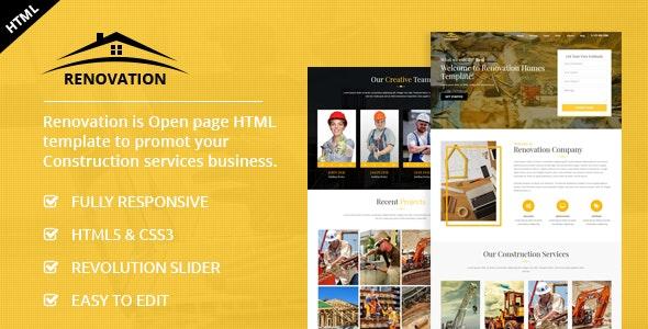 Renovation - Construction Landing Page - Business Corporate