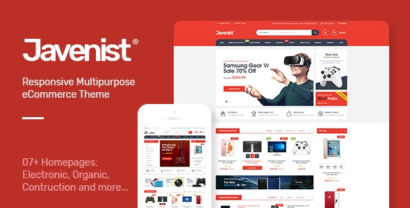Javenist - Multipurpose eCommerce WordPress Theme - WooCommerce eCommerce