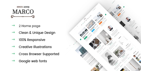 Marco - Minimal Blog HTML5 Template - Business Corporate