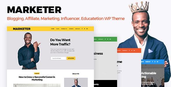 Marketer - Marketing, Blogger & Educate WordPress Theme - Education WordPress