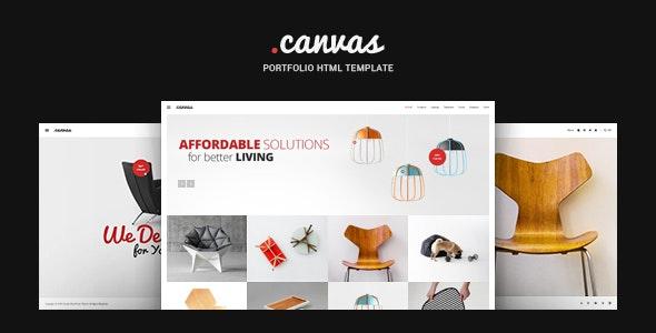 Canvas Interior & Furniture Portfolio Template - Portfolio Creative