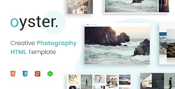 Oyster - Creative Photography HTML