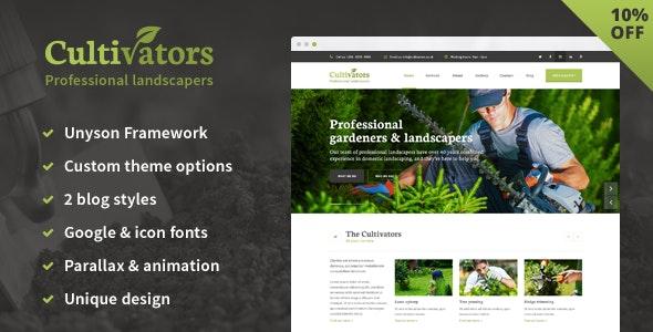 Cultivators - WordPress Gardening Design - Business Corporate