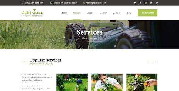 Cultivators - WordPress Gardening Design