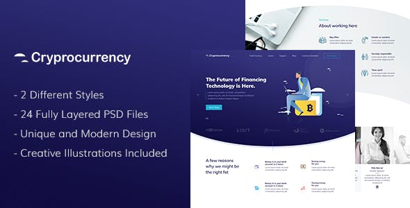 CryptoCurrency - PSD Template