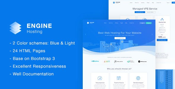 Engine Hosting Html Template By Fruitfulcode Themeforest