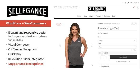 Sellegance - Responsive WooCommerce Theme - WooCommerce eCommerce