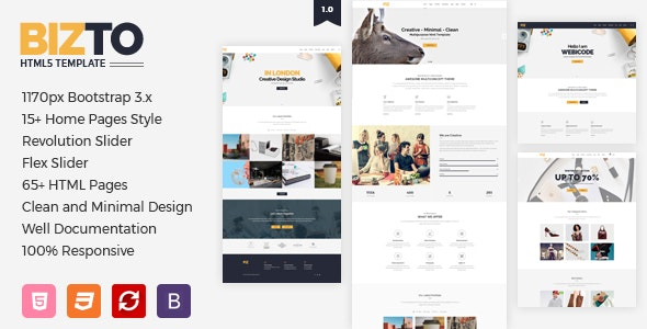 BizTo | MultiPurpose HTML5 Template - Creative Site Templates