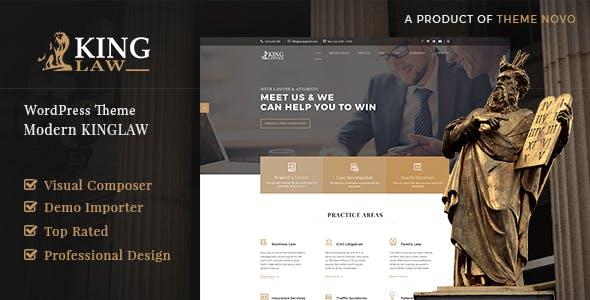 Kinglaw - Attorney & Lawyer WordPress Theme