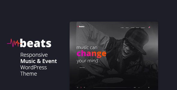 Beats - Responsive Music & Event WordPress Theme