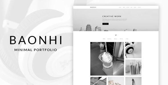 Baonhi - Minimal Portfolio WordPress Theme - Portfolio Creative