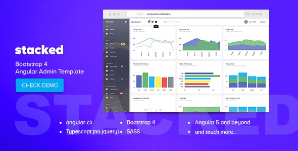 Stacked - Bootstrap 4 Angular Admin Template by iamnyasha