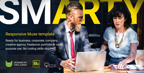 SmArty - Multipurpose Responsive Muse Template - Corporate Muse Templates