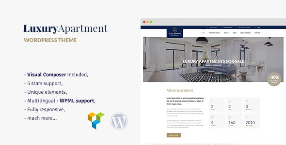 Luxury Apartment Single Property WordPress Theme