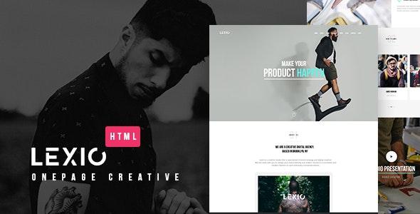 Lexio - Onepage Creative HTML Template - Portfolio Creative