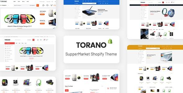 Torano - Supermarket Marketplace Ultimate Shopify Theme Section Ready