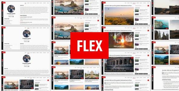 Flex - Personal Resume / Blog / Portfolio Template