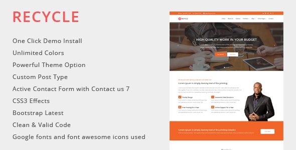 Recycle - Multipurpose WordPress Theme - Business Corporate
