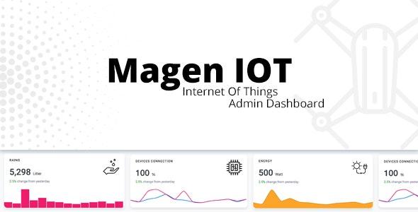 Magen IOT Admin Dashboard - Admin Templates Site Templates
